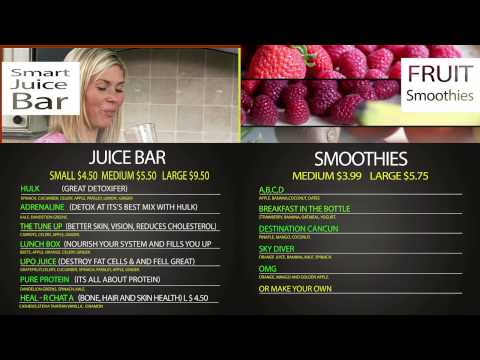 Menu Smart Juice  Bar
