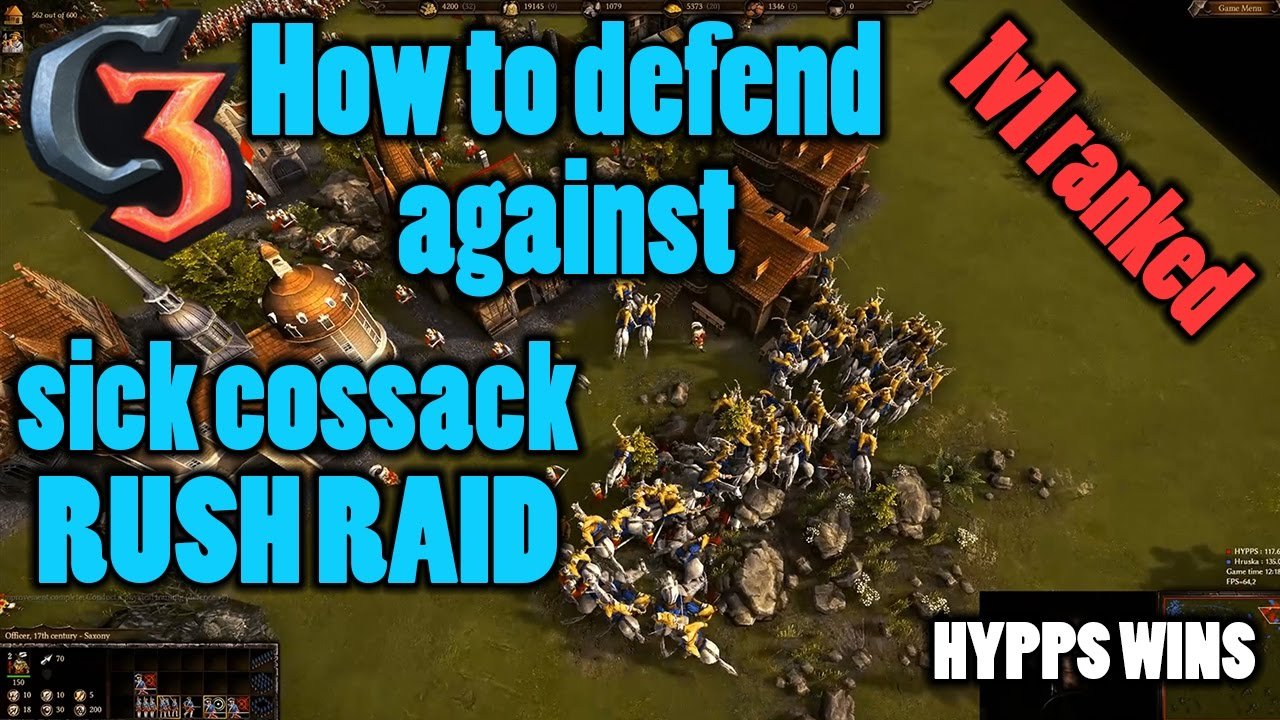 Defending against Sich Cossack(merc) rush   1v1 ranked   Cossacks 3