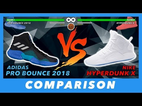 546f6ad7d581 ADIDAS PRO BOUNCE 2018 VS NIKE HYPERDUNK X 2018 BASKETBALL COMPARISON 👀🔥