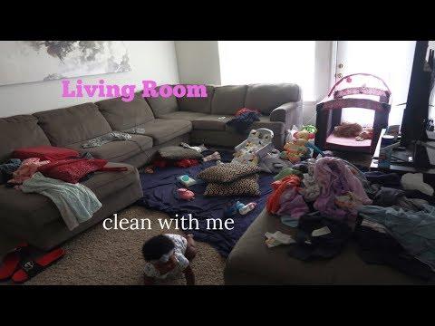living room clean with me + my macbook pro broke!