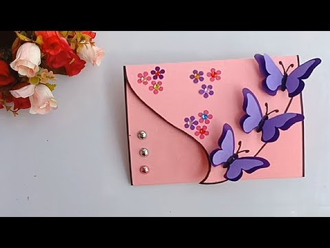 Handmade birthday Butterfly card // DIY Greeting Card idea...