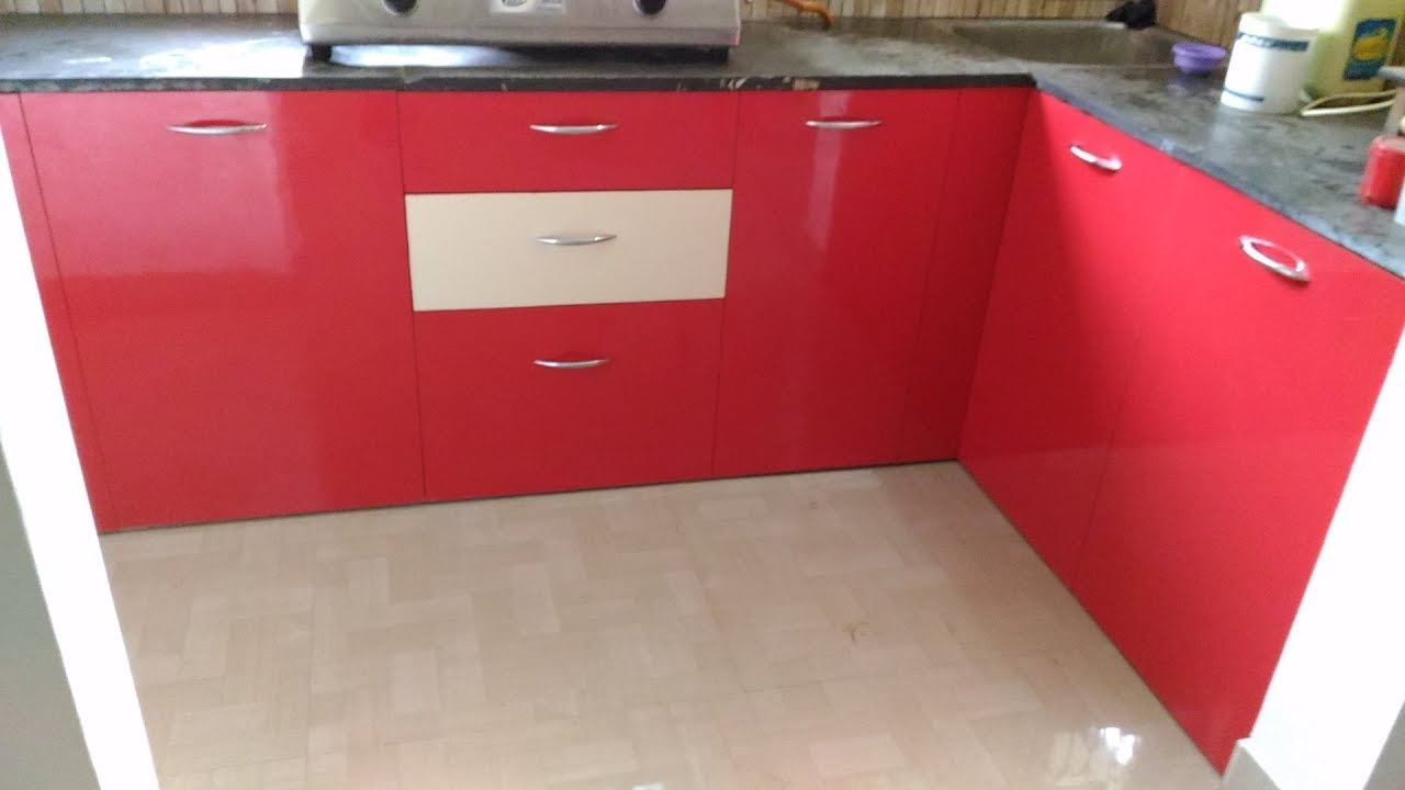 New Modular Kitchen Designs And Ivory Red