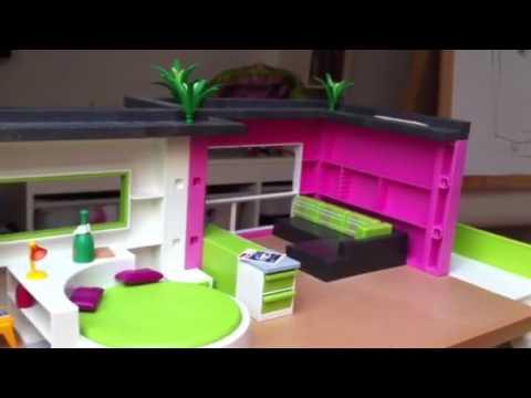 Playmobil luxusvilla wohnzimmer einrichten youtube for Wohnzimmer playmobil
