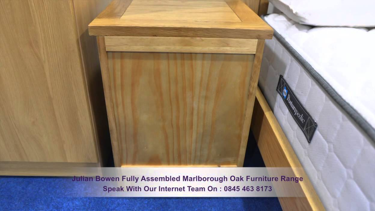 Julian Bowen Fully Assembled Marlborough Oak Furniture Range