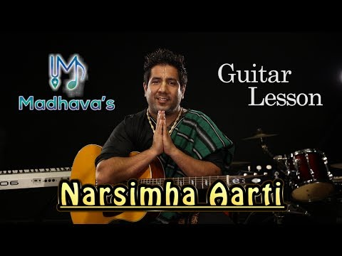 Narsimha Aarti GUITAR LESSON | Madhavas Rock Band