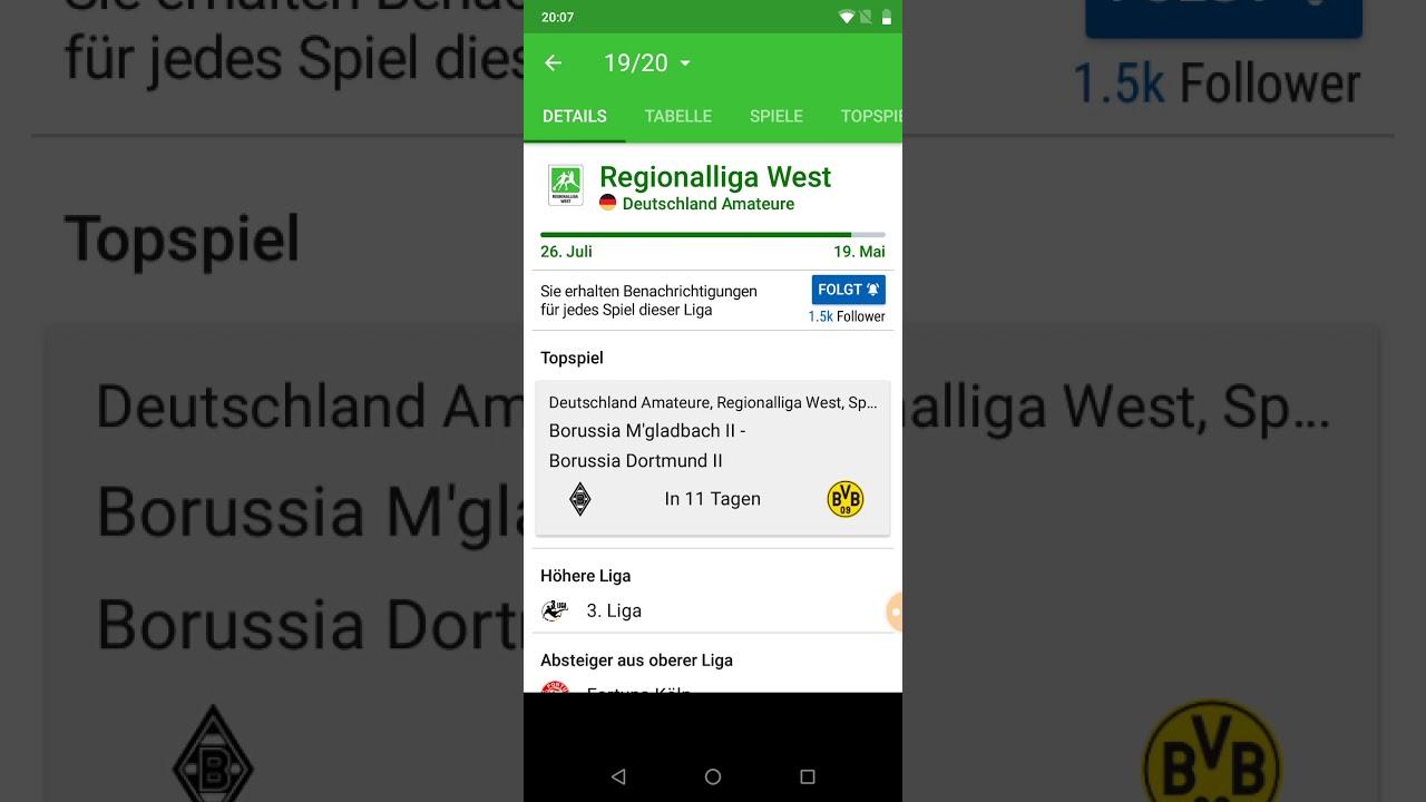 Die Regionalliga West ist abgebrochen