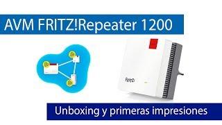 FRITZRepeater 1200: Unboxing de este repetidor con Mesh Wi-Fi
