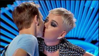 KATY PERRY KISSES AMERICAN IDOL CONTESTANT!!!! Video