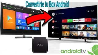 AndroidTv 9 en TvBox X96 Mini TX3 Mini Amlogic S905W