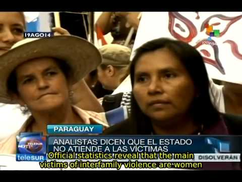 Paraguay needs laws against gender violence, experts warn