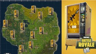 FORTNITE LIVE(Vending Machine Locations!!!) (High Explosives V2) (Fortnite Mobile Code Giveaway!!!)
