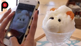 Japanese Ice Ouca's ice cream is based on what is in season – or ra...