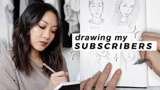 DRAWING MY SUBSCRIBERS // Sketchbook Sessions