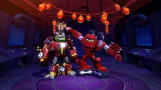Angry Birds Transformers Bomb as Warpath Autobird Companion