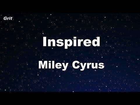 Inspired - Miley Cyrus Karaoke 【No Guide Melody】 Instrumental