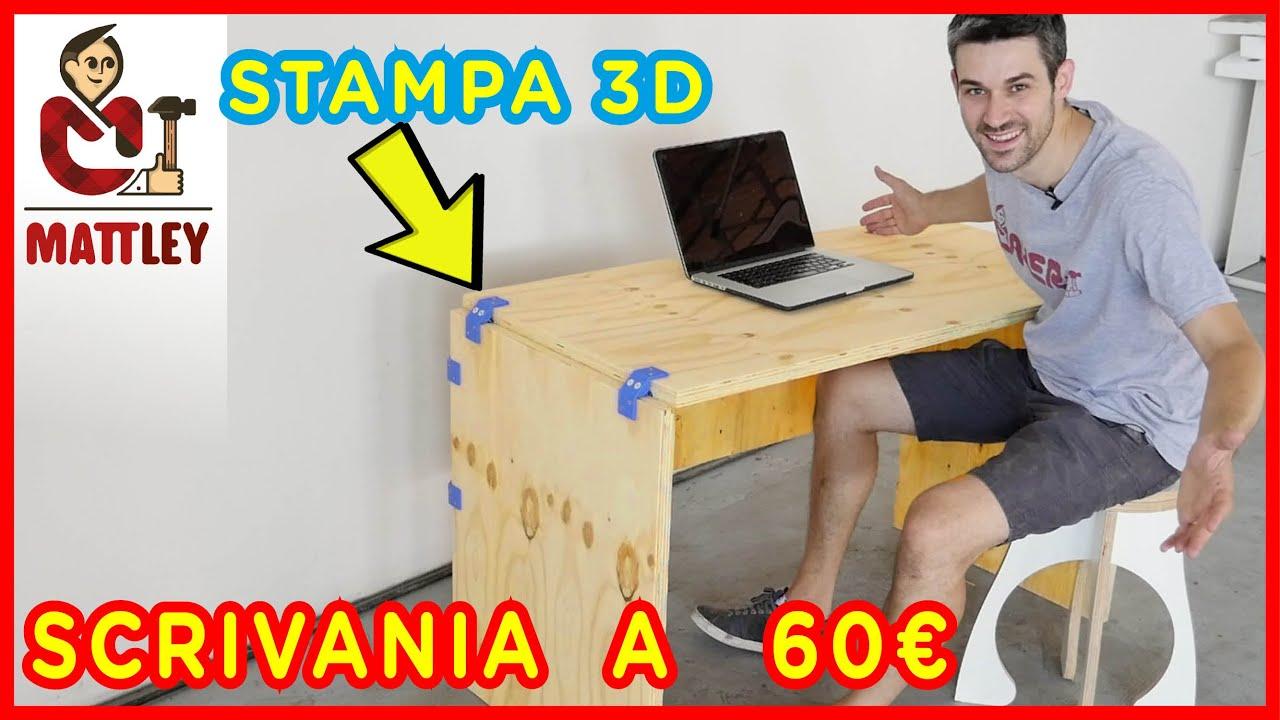 Costruire Una Scrivania Per Pc.Come Fare Una Scrivania Fai Da Te Con La Stampante 3d Anycubic Mega Pro Youtube