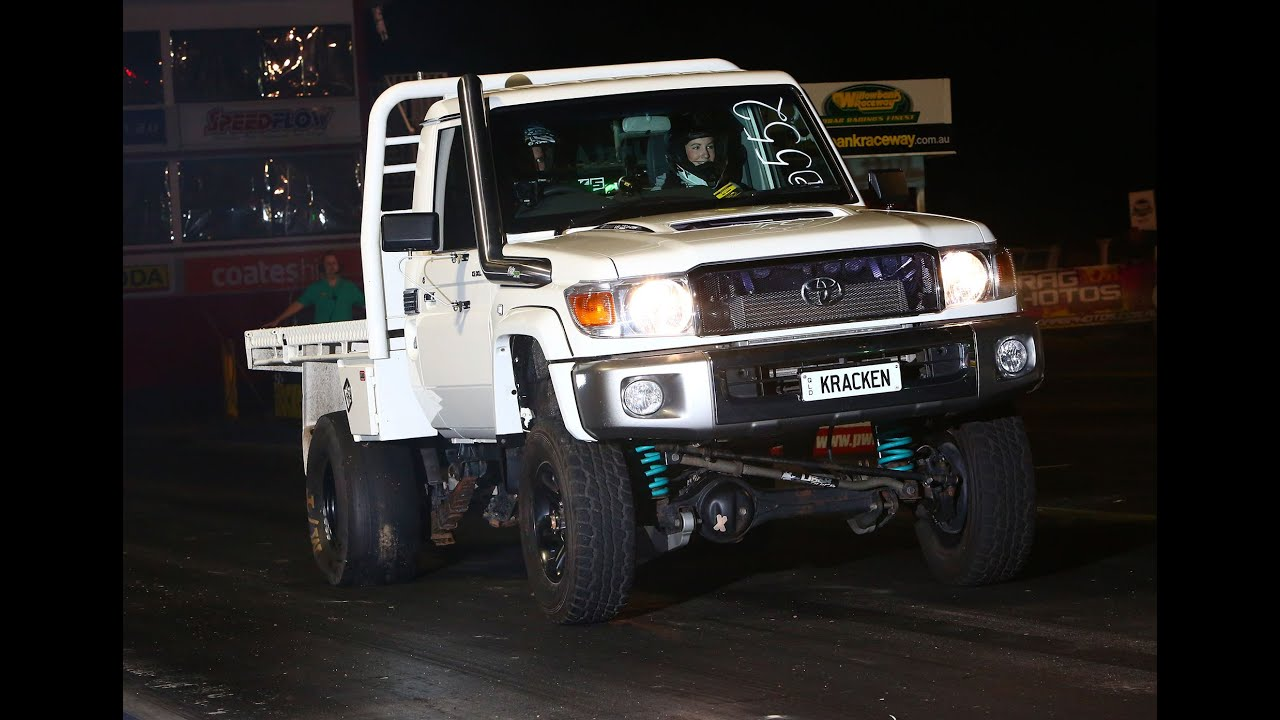 76 Series Landcruiser >> KRACKEN THE 13 SEC CRUISER DOMINATES DIESEL ASSAULT NIGHT - YouTube