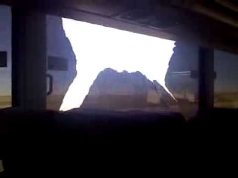 window on greyhound bus falls out on I-80