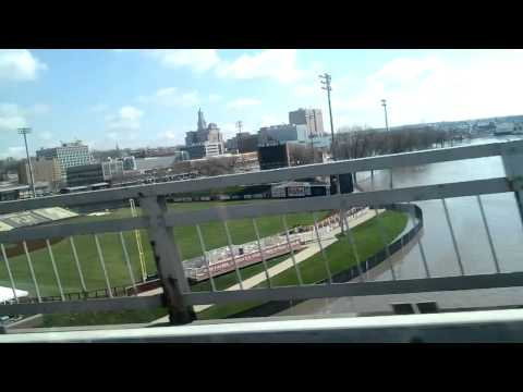 Mississippi River Flooding - Quad Cities, Centennial Bridge