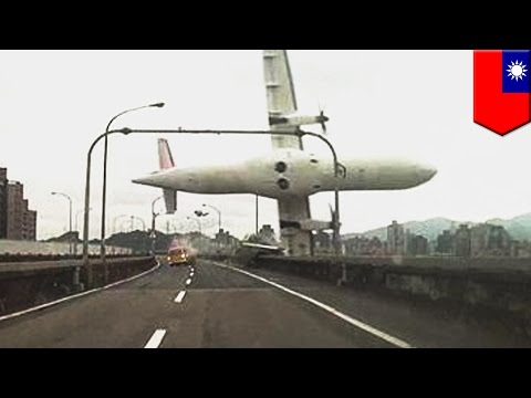 Taipei air disaster: Commuter plane with 58 aboard crashes into river, at least nine dead
