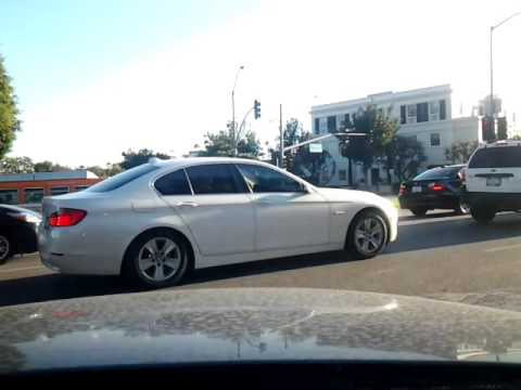 Driving in Beverly Hills, California