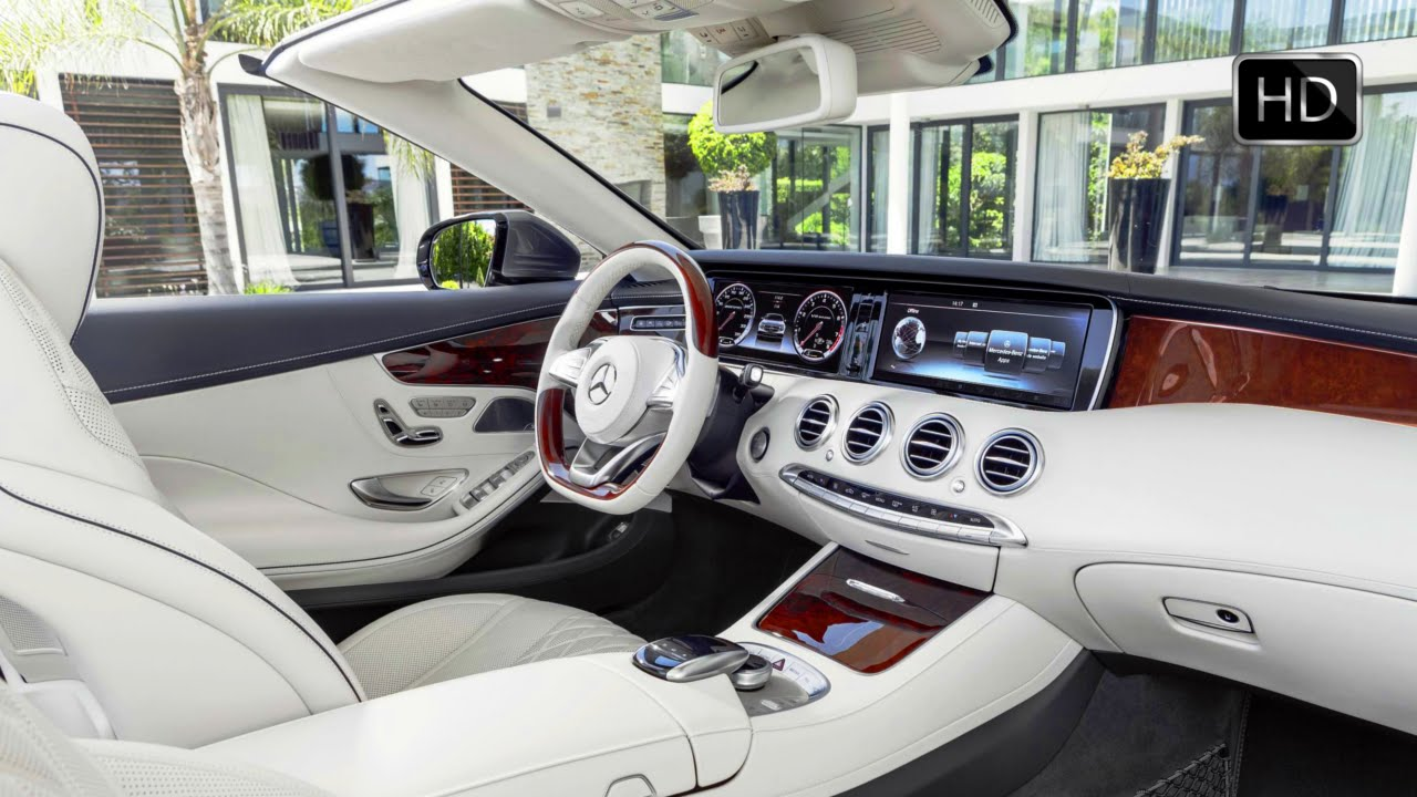 2017 Mercedes Benz S 500 Cabriolet Interior Design Hd