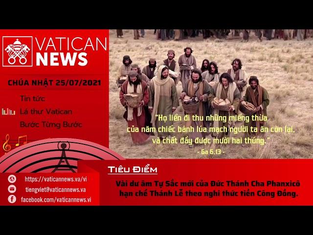 Radio Chúa Nhật 25/07/2021 - Vatican News Tiếng Việt