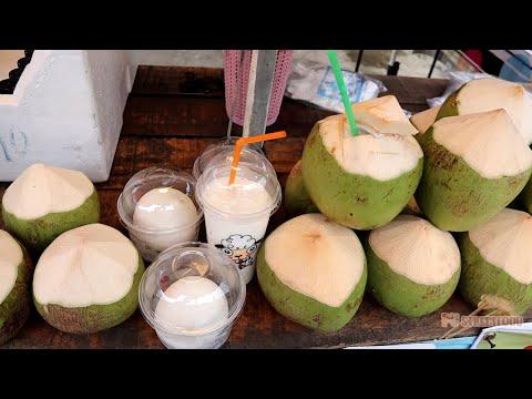 Fresh Coconut Smoothie // PU STREET FOOD 🥥🌴