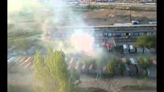 14 05 2014г ,г Омск, 5 мкр , пожар в гаражах из за детской шалости