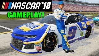 NASCAR HEAT 2018 UPDATE REVIEW/GAMEPLAY