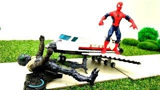 Человек ПАУК #Супергерои Marvel ✈Стервятник атаковал АВИА шоу ✈ Видео с игрушками
