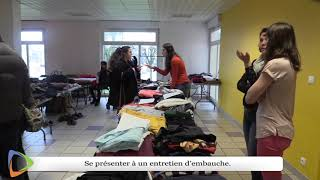 Un dressing solidaire à la mission locale d'Avallon(89).