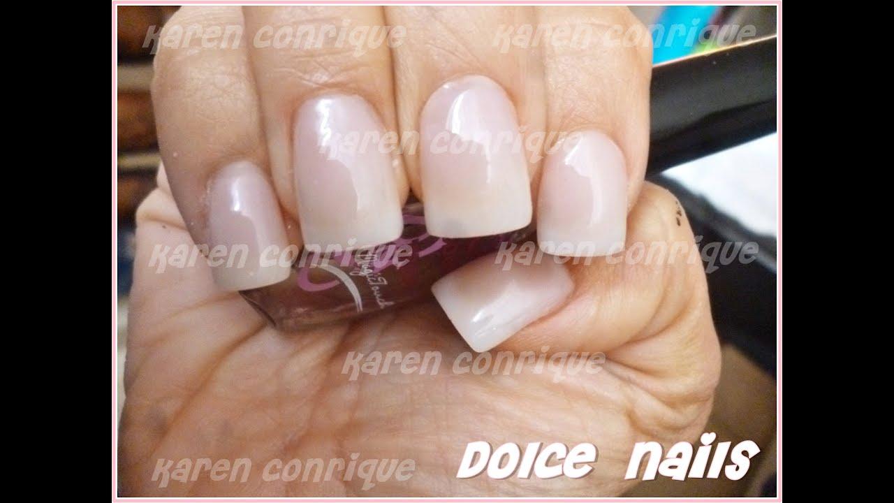 Dolce Nails: Uñas acrílicas/natural sencillo - YouTube