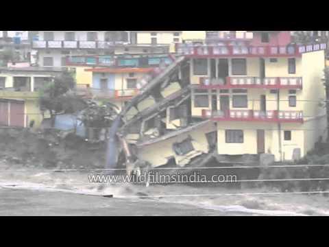 Deadly floods wash away building in Joshiana, Uttarakhand