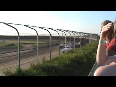 IMCA STOCK CAR HEAT RACE 6 18 2016 MCCOOL JUNCTION