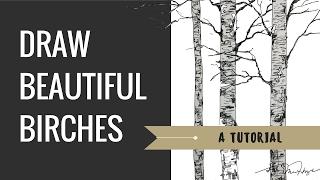 Tutorial: How To Draw A Birch Tree