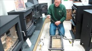 How to replace a rope door seal on Croft Small 8kw woodburning stove