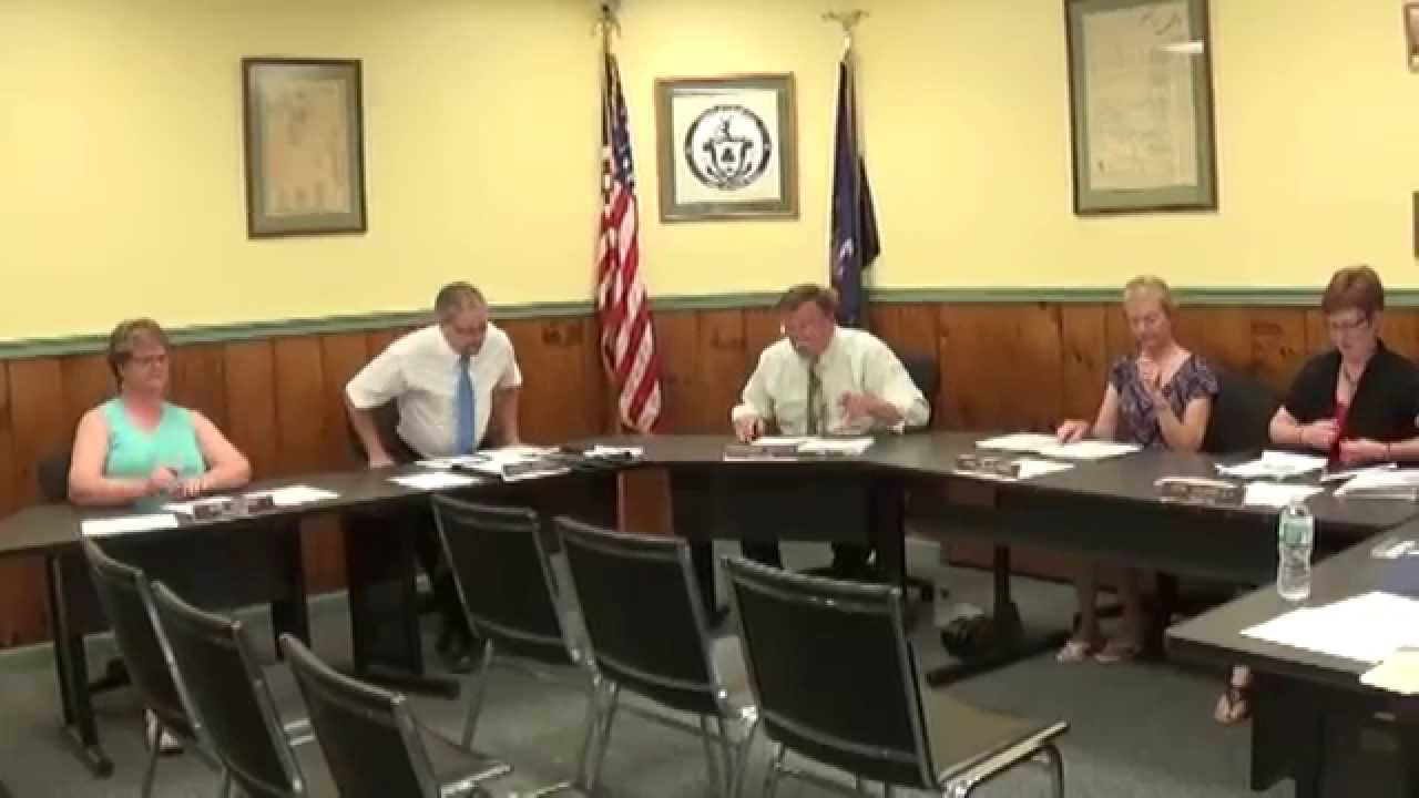 Champlain Village Board Meeting  7 13 15