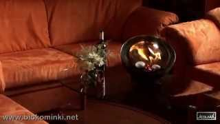 Lampa do salonu - kominek na biopaliwo RUIZ - biokominki KAMI