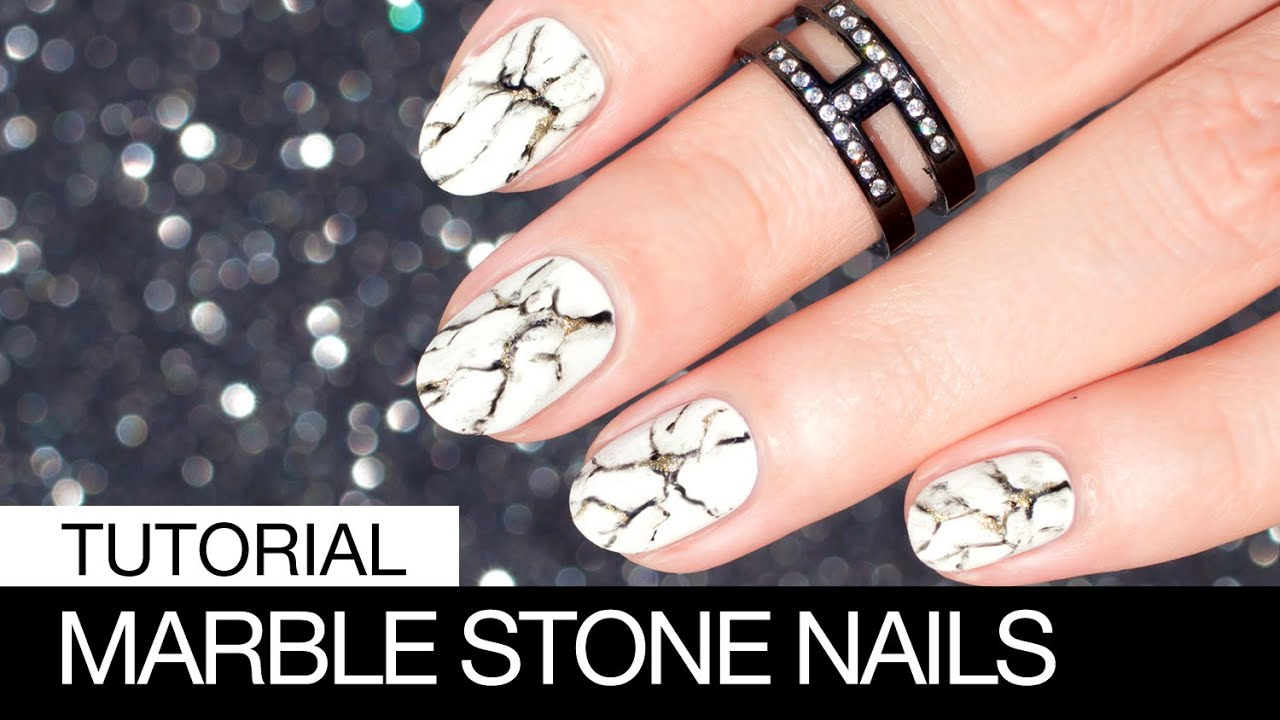 Realistic white marble stone nail art sonailicious youtube realistic white marble stone nail art sonailicious solutioingenieria Images