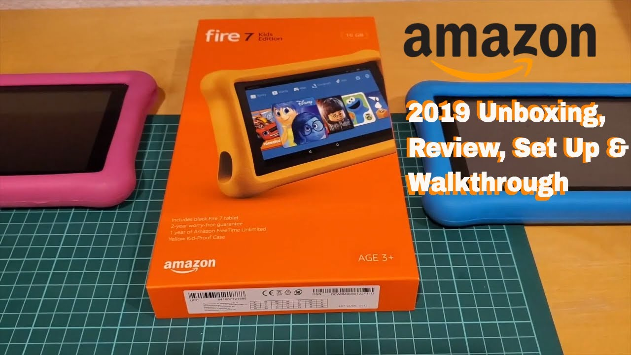 Amazon Fire 7 Kids Edition Tablet 2019 - Update Review. Set Up. & Walk through. - YouTube