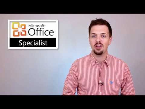 Microsoft Office Specialist Certification Online Courses