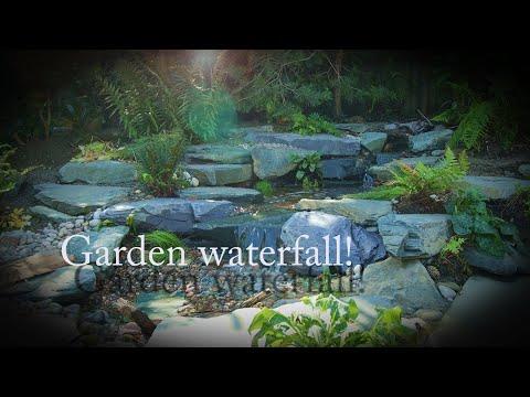 Budget garden waterfall