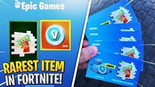 "UNLOCKING l'article RAREST à Fortnite! 1/1000 dans MONDE -EXCLUSIF ""EEE Spray"" (Fortnite)"