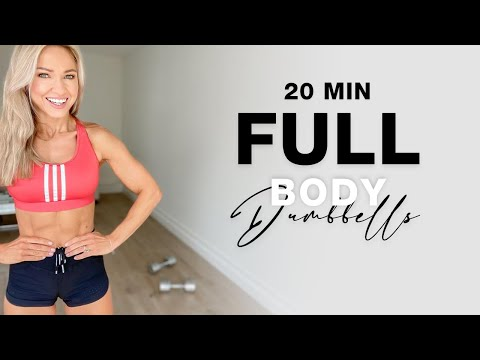 20 Min FULL BODY DUMBBELL WORKOUT at Home   No Repeat
