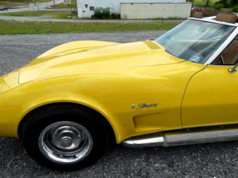 1974 Yellow Corvette Factory Side Pipes 4spd For Sale