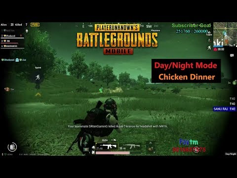 [Hindi] PUBG Mobile | Day/Night Mode Fight & Chicken Dinner