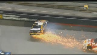 NASCAR Xfinity Series 2017. Bristol Motor Speedway 2. Jeb Burton & Brendan Gaughan Crash
