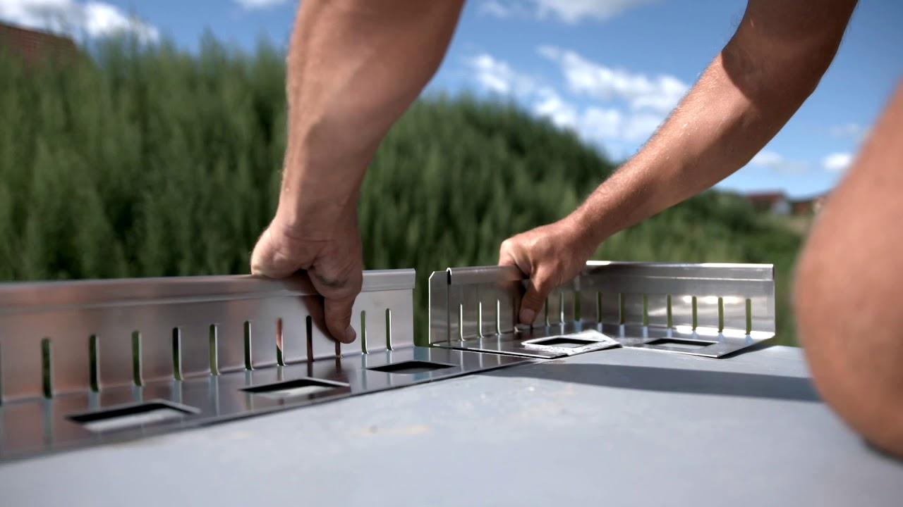 Produktvideo Kiesfangleisten Filli Stahl Dachprofi
