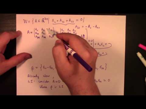 Linear Algebra: Feb 15, snow day, bonus basis examples, subspace theorem sketch